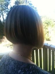 Mature haircut design