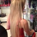 blonde tape extensions